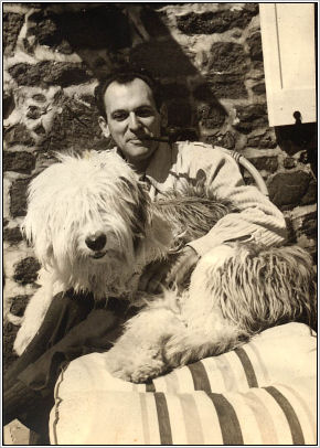 Moss Hart with dog